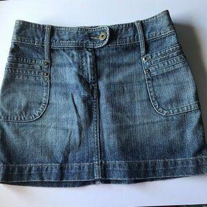 H&M Women's Denim Mini-Skirt Size 6/36